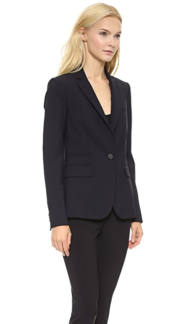 Veronica Beard Navy Classic Jacket with Hoodie Dickey