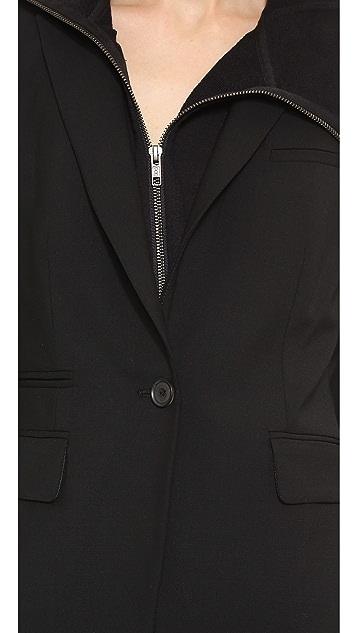 Veronica Beard Black Classic Jacket with Ninja Dickey