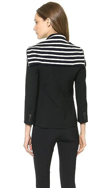 Veronica Beard Stripe Dickey Schoolboy Jacket