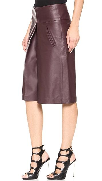 Veronica Beard Leather Gaucho Pants