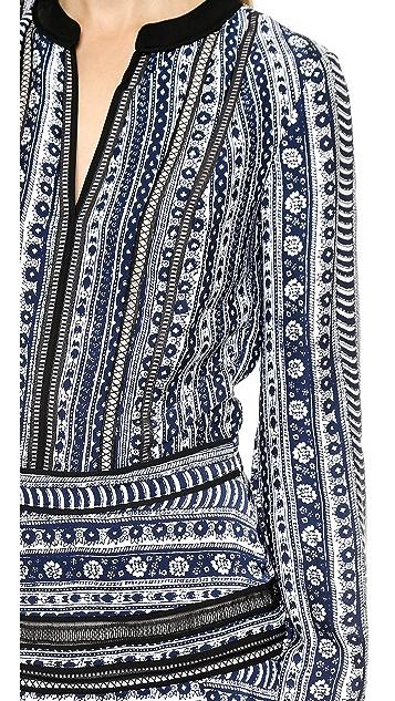 Veronica Beard Платье в деревенском стиле с полосками из лент