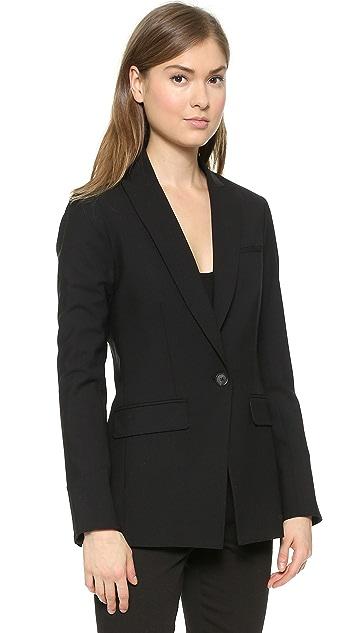 Veronica Beard Long & Lean Jacket with Upstate Dickey