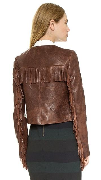 Veronica Beard Frontier Fringe Jacket