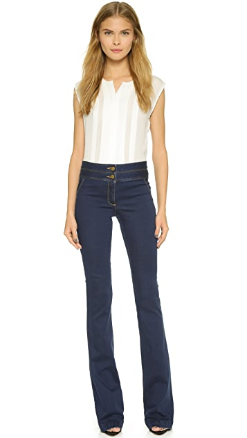 Veronica Beard High Waisted Flare Jeans