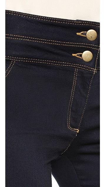 Veronica Beard High Waisted Flare Jeans