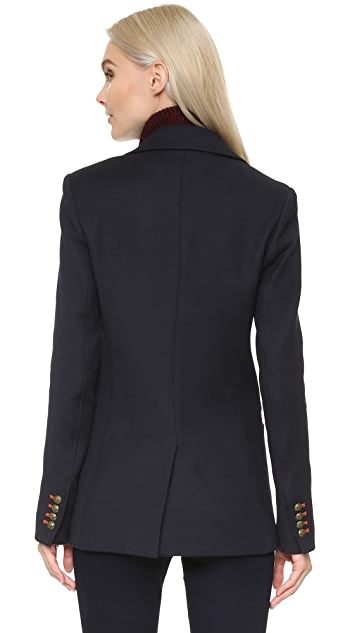 Veronica Beard Port Double Breasted Dickey Coat
