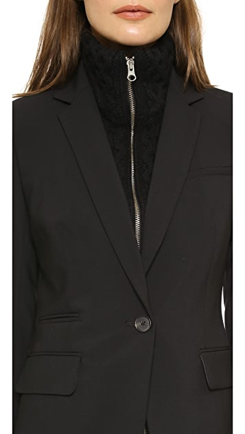 Veronica Beard Classic Jacket with Upstate Dickey