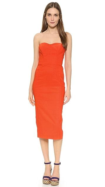 08cf28f36aa Veronica Beard Maui Strapless Bustier Dress