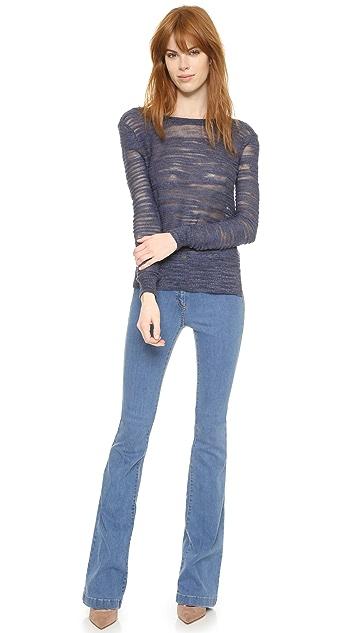 Veronica Beard Mainsail V Back Sweater