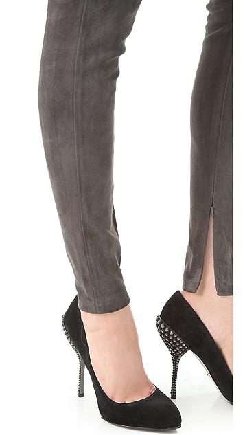 Victoria Beckham Suede Leggings