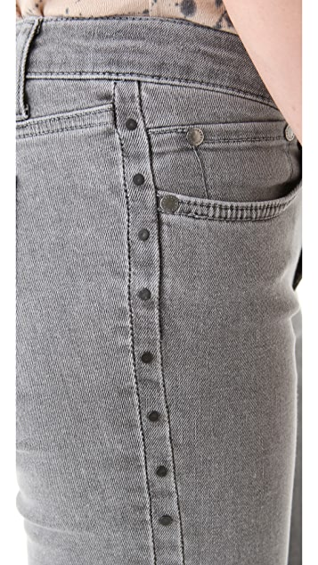 Victoria Beckham Studded Side Panel Jeans