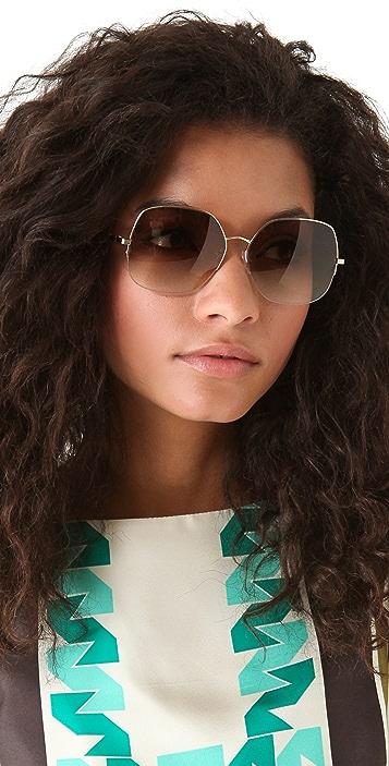 Victoria Beckham Fine Metal Sunglasses
