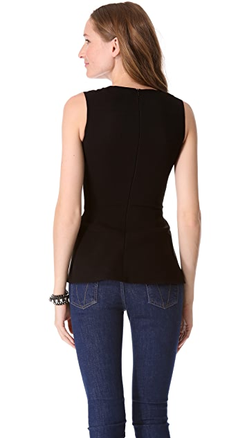 Victoria Beckham V Neck Shell Top