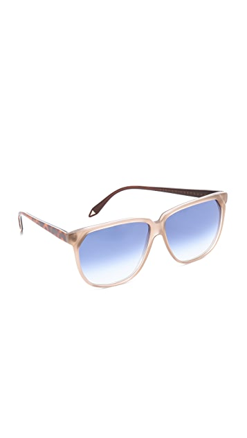 Victoria Beckham Stepped Square Sunglasses
