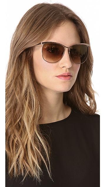 Victoria Beckham Cutaway Cat Eye Sunglasses