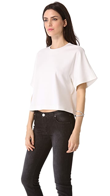 Victoria Beckham Boxy Cropped Top
