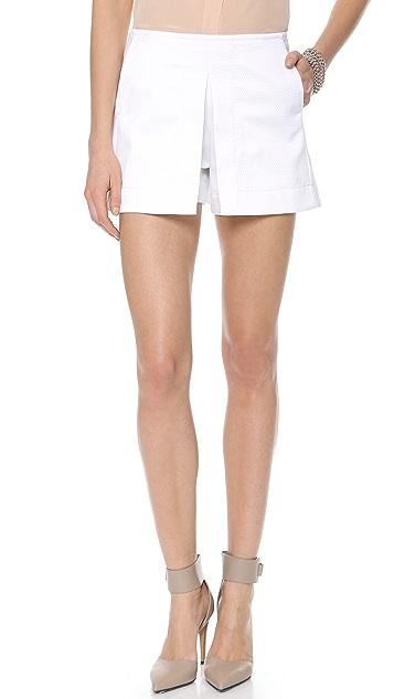 Victoria Beckham Front Pleat Shorts