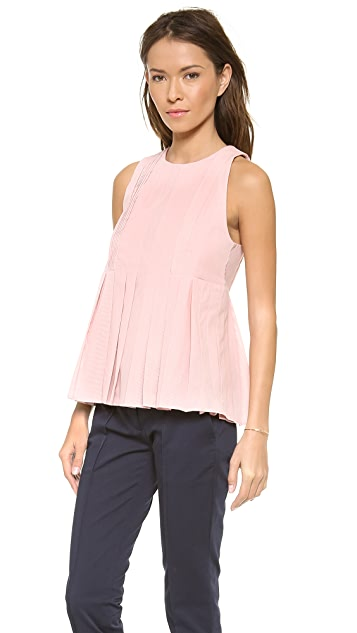 Victoria Beckham Pleat Top