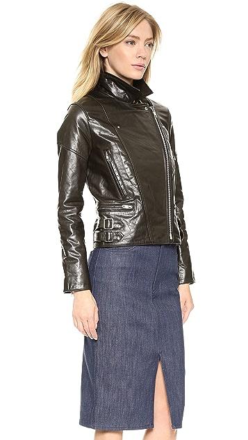 Victoria Beckham Joan Leather Biker Jacket