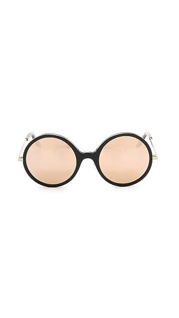 Victoria Beckham Feminine Inlay Round Sunglasses