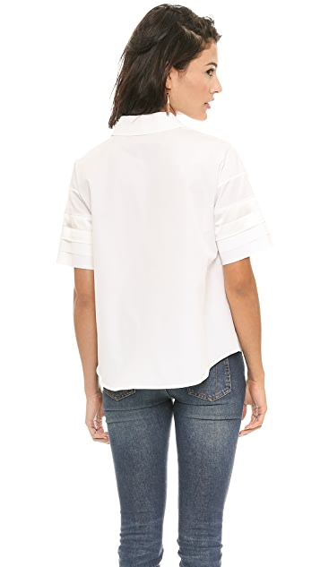 Victoria Beckham Pleat Sleeve Shirt