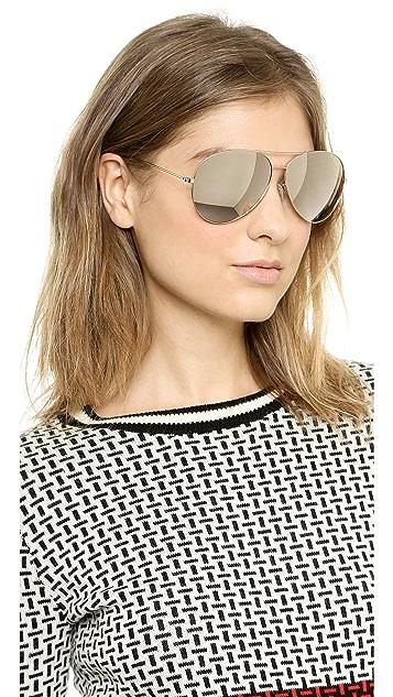 ... Victoria Beckham 18k Gold Mirror Aviator Sunglasses ... 537b31a8cd8
