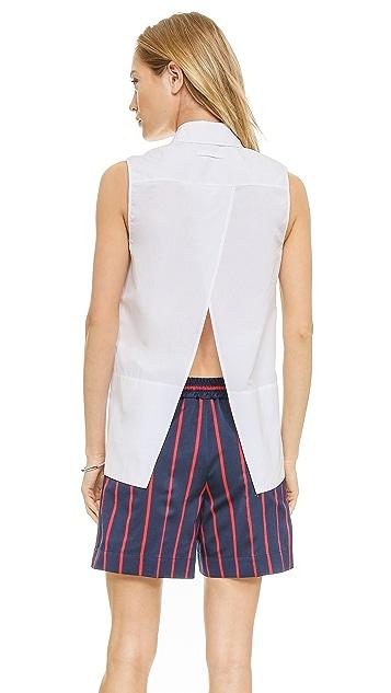 Victoria Beckham Open Back Shirt