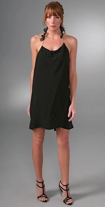 Vanessa Bruno Overlay Dress with Chain Straps