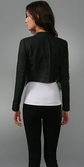 VEDA Kendall Leather & Lace Jacket