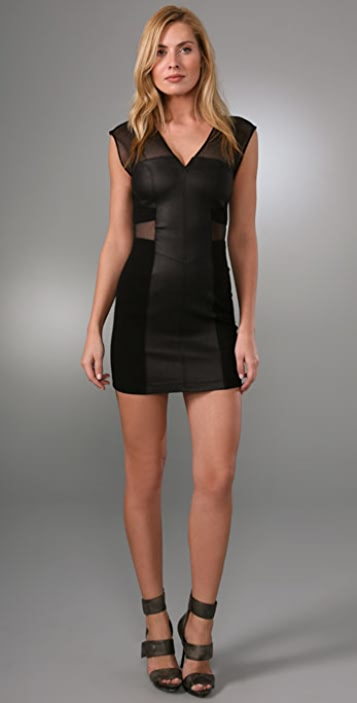 VEDA Electric Leather Dress