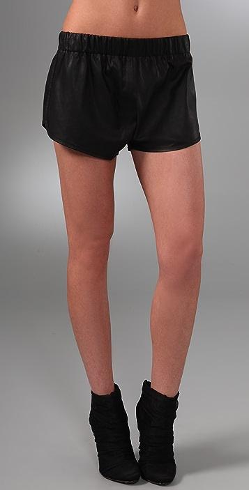 VEDA Florida Leather Shorts
