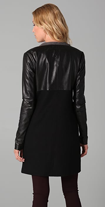 VEDA Young Leather Coat