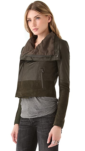 VEDA Max Texture Leather Jacket