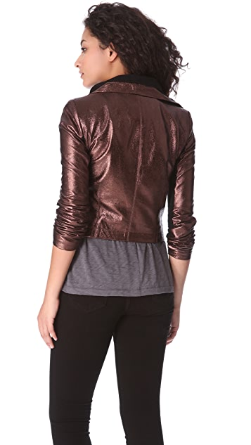 VEDA Max Foil Leather Jacket