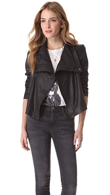 VEDA Max Summer Leather Jacket