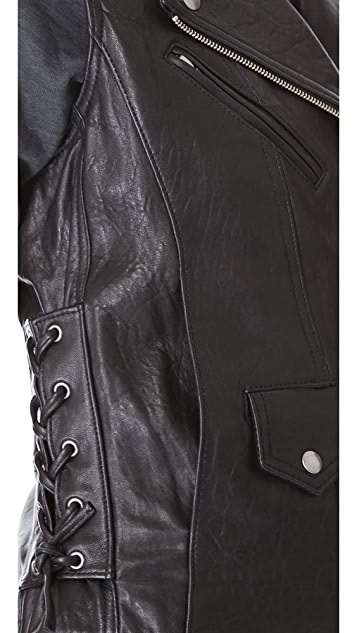 VEDA Castor Leather Vest