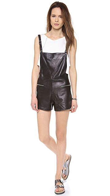 VEDA Rian Leather Overalls