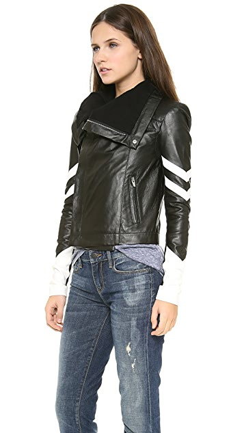 VEDA Max Racer Leather Jacket