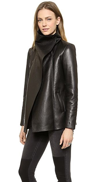VEDA Commune Leather Coat