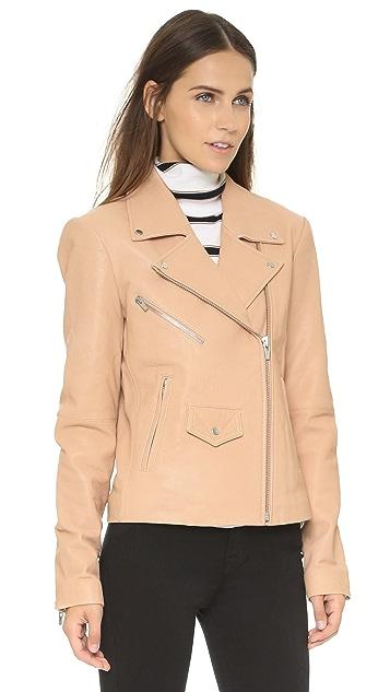 VEDA Lazer Classic Leather Moto Jacket