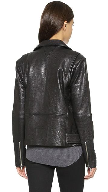 VEDA Jayne Classic Leather Jacket