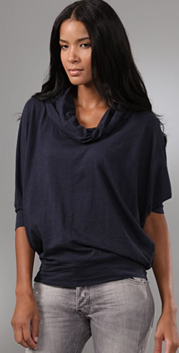 Velvet Winter Slub Dolman Top