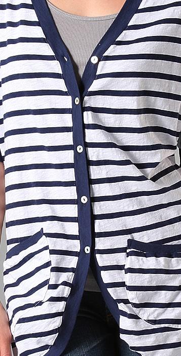 Velvet Maldives Stripe Jewel Cardigan