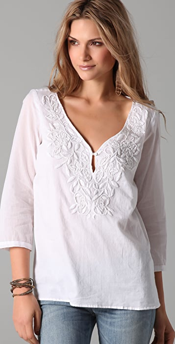 Velvet Aubin Embroidered Blouse
