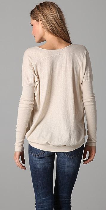 Velvet Saran Long Sleeve Top