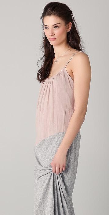 Velvet Johanna Luxe Combo Maxi Dress
