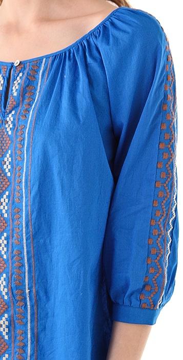 Velvet Diran Aztec Embroidered Blouse