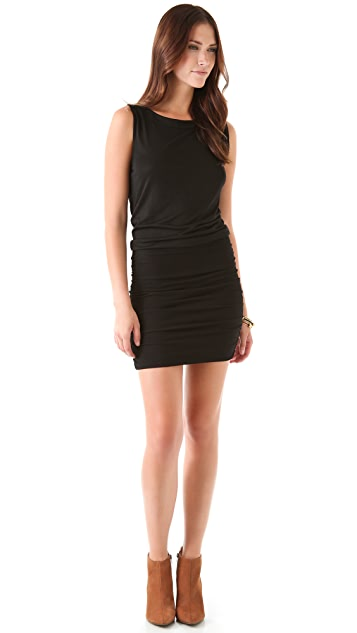 Velvet Capri Drape Dress