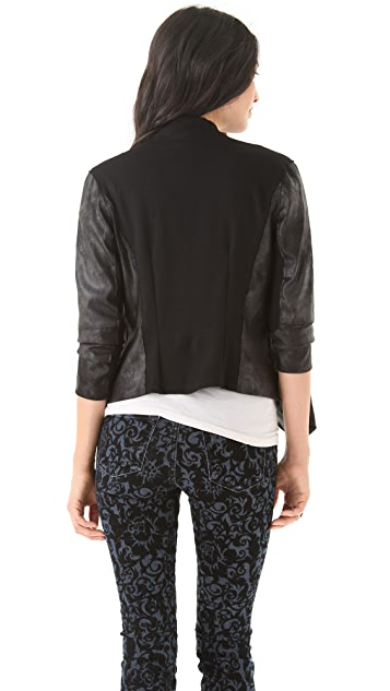 Velvet Blush Faux Leather Jacket