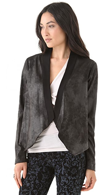 Velvet Blush Faux Leather Jacket